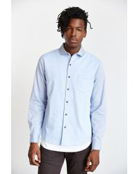 Vanishing Elephant Chambrayblock Club Collar Buttondown Shirt - Lyst
