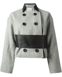 Atto - Double Breasted Coat - Lyst