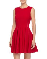 Jill Jill Stuart Ric-Rac Pleated Sleeveless Dress - Lyst