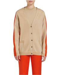 Mulberry Colour Block Cardigan - Lyst