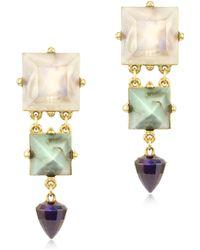 Patrizia Pepe - Multicolor Resin and Metal Clipon Earrings - Lyst