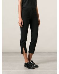 Ann Demeulemeester Cropped Trousers - Lyst