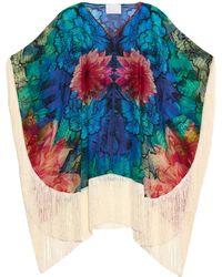 Athena Procopiou - Cosika Floral-Print Cotton-Blend Kaftan - Lyst