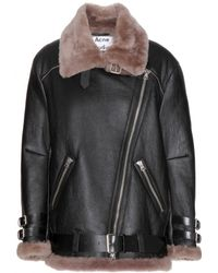 Acne Studios Velocite Shearling Jacket - Lyst