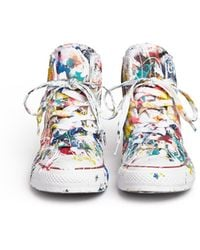 Rialto Jean Project - One Of A Kind Hand-painted Splash High Top Sneakers - Sz 37 - Lyst