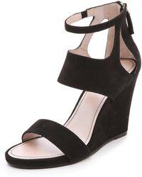 DKNY - Hara Wedge Sandals - Lyst