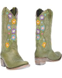 Sendra Ankle Boots green - Lyst