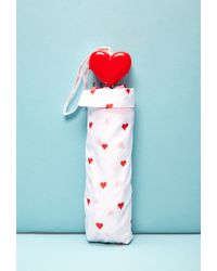 Forever 21 Ban.Do Supercute Hearts Umbrella - White