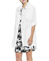 Vince Camuto Roll-Sleeve Anorak Jacket - Lyst