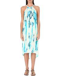 Matthew Williamson Tiedye Jersey Dress Aquamarine - Lyst