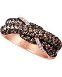 Le Vian - 14kt. Strawberry Gold And Chocolate Diamond Ring - Lyst