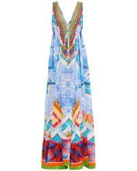 Camilla Crossing Paths V-Neck Drawstring Dress - Lyst