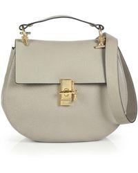 Chloé Drew Medium Leather Crossbody Bag - Lyst