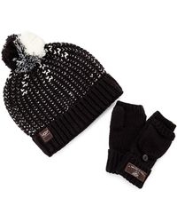 UGG - Cardy Colorblock Beanie & Flip Mittens - Lyst