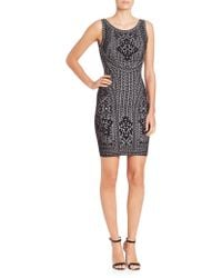 Hervé Léger | Sleeveless Jacquard Bandage Dress | Lyst
