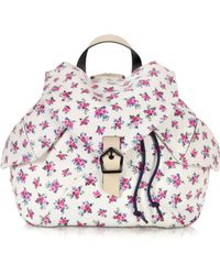 Carven Liberty Printed Leather Backpack - Pink