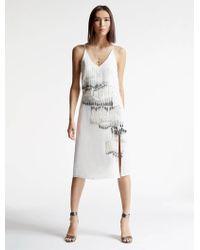 Halston   Crepe Embellished Dress   Lyst