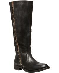 Steven by Steve Madden Zendra Tall Leather Boots - Lyst