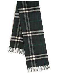 Burberry   Giant Check Cashmere Scarf   Lyst