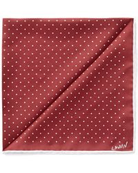 Lanvin Contrast Polka Dot Silk Pocket Square - Lyst