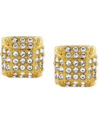 Vince Camuto - Goldtone Glass Stone Twopart Stud Earrings - Lyst