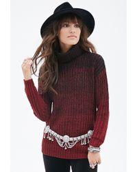 Forever 21 Marled Ombré Turtleneck Sweater - Lyst