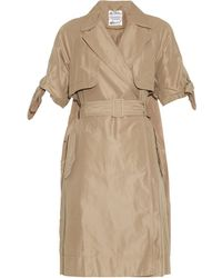 MUVEIL - Double-Breasted Trench Coat - Lyst