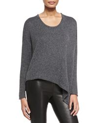 Helmut Lang Lux Blend Asymmetric Pullover - Lyst