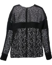 Emanuel Ungaro Floral Lace Embroidered Top - Lyst