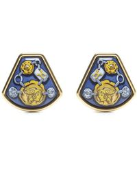 Hermes Preowned Gold Coin Gladiator Clip On Earrings - Lyst