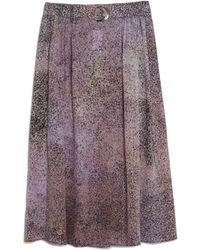 KENZO | Sand Midi Skirt | Lyst
