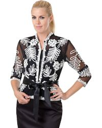 JS Collections Three Quarter Sleeve Jacket - Lyst