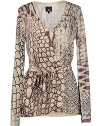 Just Cavalli Beige Sweater - Lyst