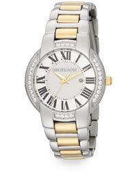 Saks Fifth Avenue - Stainless Steel & Goldtone Crystal Bezel Watch - Lyst