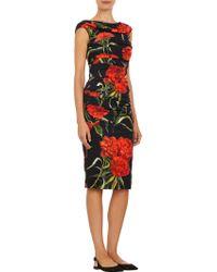 Dolce & Gabbana Ruched Off-Shoulder Dress - Lyst
