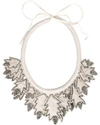 Hoss Intropia Necklace gray - Lyst