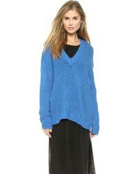 Cheap Monday Plexus Knit Sweater - Primary Blue - Lyst