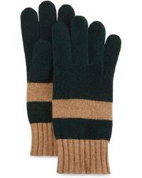 Portolano   Rugby-stripe Knit Gloves   Lyst