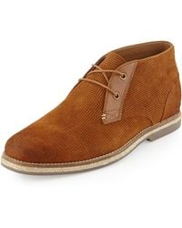 Joe's Jeans Cade Perforated Suede Chukka Boot - Lyst