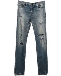 Saint Laurent | Jeans Denim Destroyed | Lyst