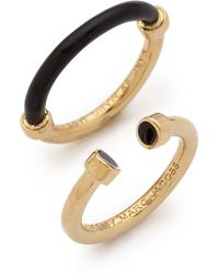 Marc By Marc Jacobs - Hula Hoop Ring Set Black - Lyst