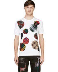 Junya Watanabe White Plaid Patches T_shirt - Lyst