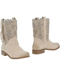 Scee By Twin-set Ankle Boots - White