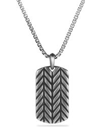 David Yurman Modern Chevron Tag Necklace - Lyst