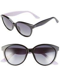 Dior Women'S 'Envol 3' 55Mm Cat Eye Sunglasses - Black/ Blue/ Lilac - Lyst