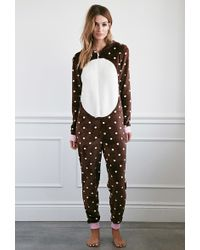 Forever 21 | Plush Polka Dot Bear Jumpsuit You've Been Added To The Waitlist | Lyst