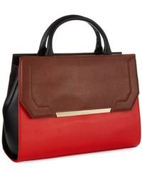 Calvin Klein Leather Shopper Bag - Lyst