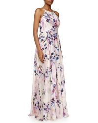 Phoebe - Sleeveless Floral Pleated Gown - Lyst