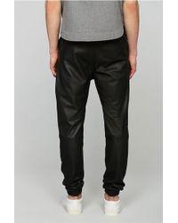 Zanerobe Sure Shot Perforated Leather Jogger Pant - Black