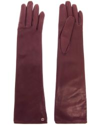 Gucci Long Leather Gloves - Lyst